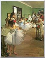 Edgar Degas The Dance Class stretched canvas art