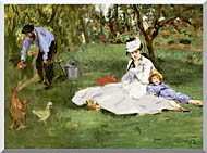 Edouard Manet The Monet Family In Their Garden At Argenteuil stretched canvas art