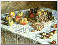 Claude Monet Still Life Apples And Grapes stretched canvas art