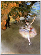 Edgar Degas The Star stretched canvas art