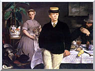 Edouard Manet Luncheon In The Studio stretched canvas art