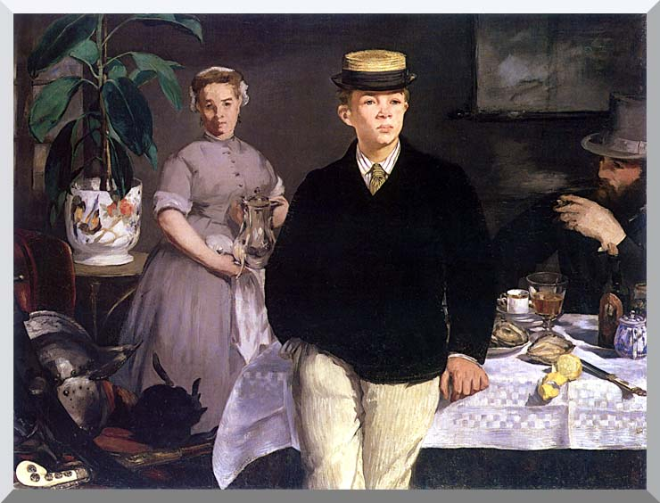 Edouard Manet Luncheon in the Studio stretched canvas art print