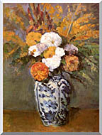 Paul Cezanne Dahlias In A Delft Vase stretched canvas art