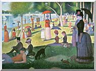 Georges Seurat Sunday Afternoon On The Island Of La Grande Jatte stretched canvas art