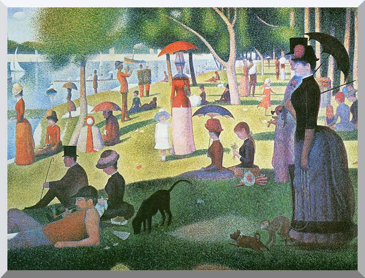 Georges Seurat Sunday Afternoon on the Island of La Grande Jatte stretched canvas art print