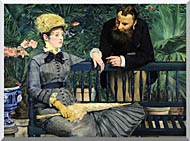 Edouard Manet In The Conservatory stretched canvas art