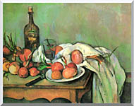 Paul Cezanne Still Life With Onions stretched canvas art