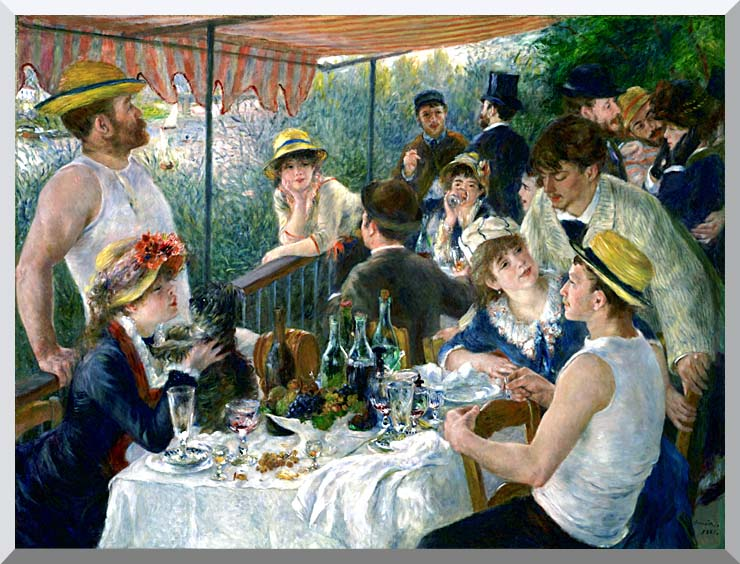 Pierre Auguste Renoir The Luncheon of the Boating Party stretched canvas art print