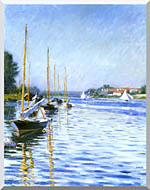 Gustave Caillebotte Boats On The Seine At Argenteuil stretched canvas art