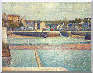Georges Seurat Port En Bessin The Outer Harbor At Low Tide stretched canvas art