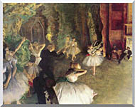 Edgar Degas Ballet Rehearsal On Stage stretched canvas art