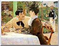 Edouard Manet In The Garden Restaurant Of Pere Lathuille stretched canvas art