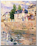 Berthe Morisot The Quay At Bougival stretched canvas art