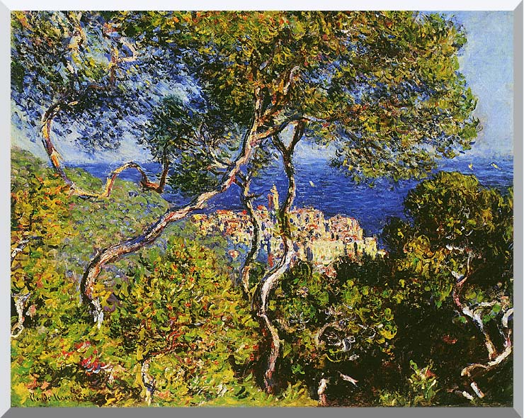 Claude Monet Bordighera stretched canvas art print