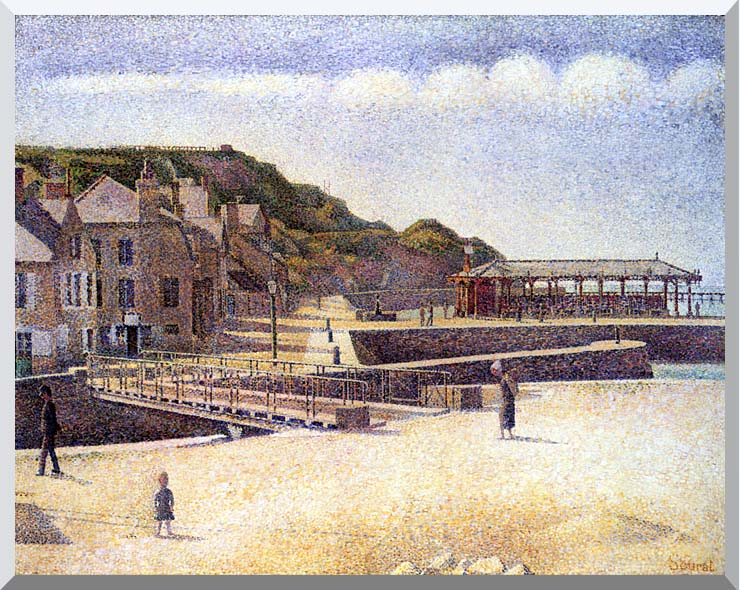 Georges Seurat Port-en-Bessin stretched canvas art print