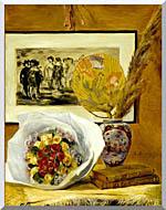 Pierre Auguste Renoir Still Life With Bouquet stretched canvas art