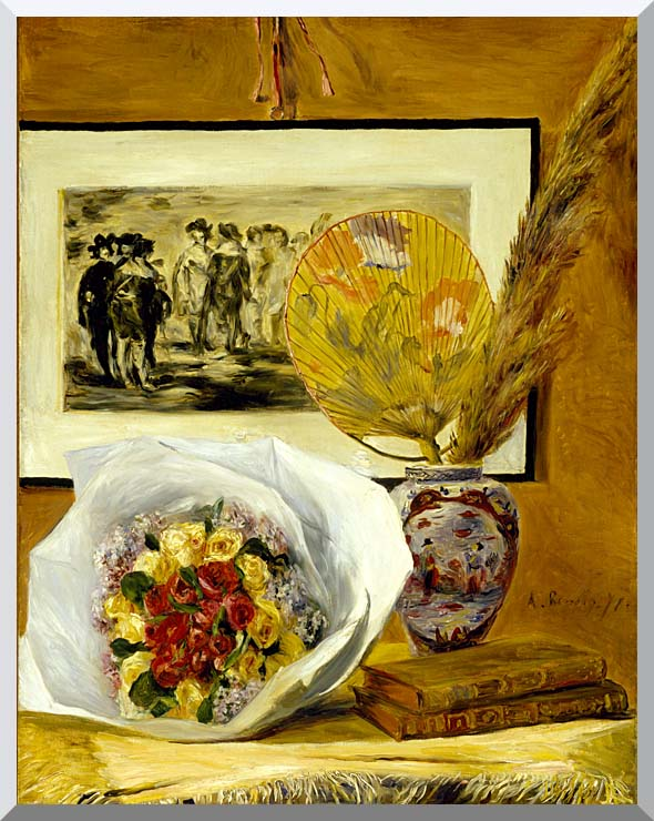Pierre Auguste Renoir Still Life with Bouquet stretched canvas art print