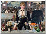 Edouard Manet A Bar At The Folies Bergere stretched canvas art