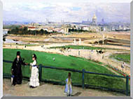 Berthe Morisot View Of Paris From The Trocadero stretched canvas art