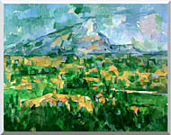 Paul Cezanne Mont Sainte Victoire 1904 stretched canvas art