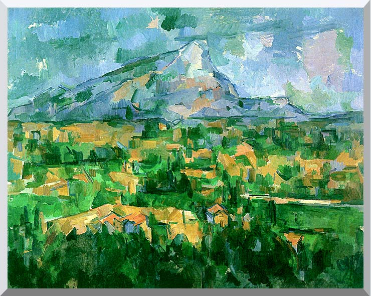 Paul Cezanne Mont Sainte-Victoire 1904 stretched canvas art print