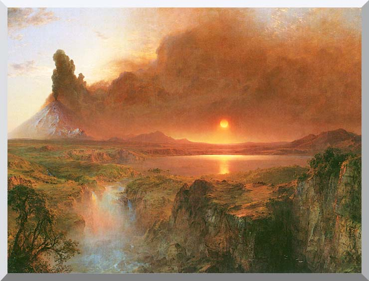 Frederic Edwin Church Cotopaxi (detail) stretched canvas art print