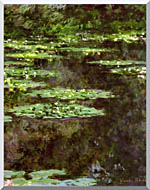 Claude Monet Water Lilies 1904 Portrait Detail stretched canvas art