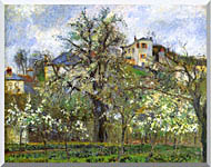 Camille Pissarro Kitchen Garden And Flowering Trees Spring Pontoise stretched canvas art