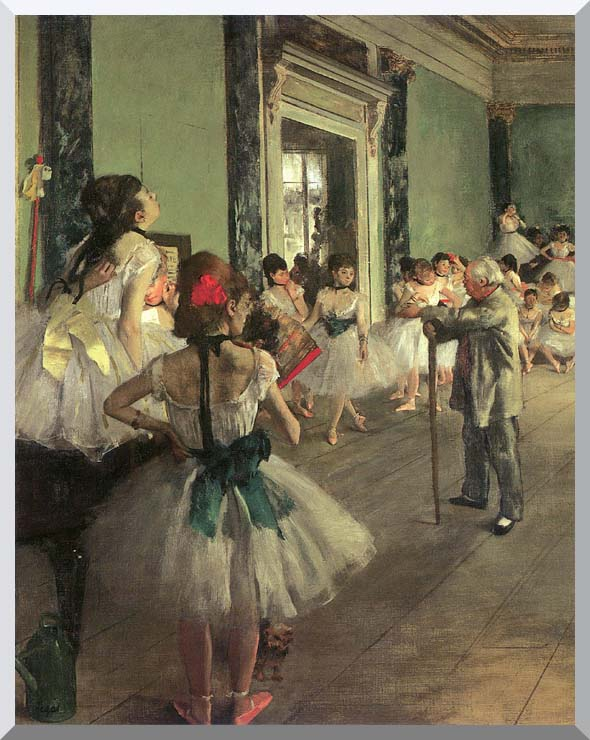 Edgar Degas Dance Class stretched canvas art print