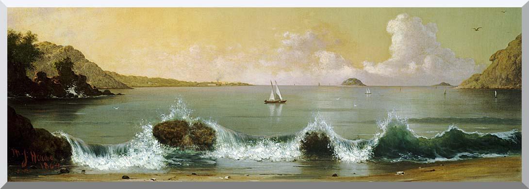 Martin Johnson Heade Rio de Janeiro Bay (Panoramic View) stretched canvas art print