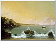 Martin Johnson Heade Rio De Janeiro Bay Left Detail stretched canvas art