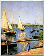 Gustave Caillebotte Sailing Boats At Argenteuil stretched canvas art