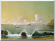 Martin Johnson Heade Rio De Janeiro Bay Right Detail stretched canvas art