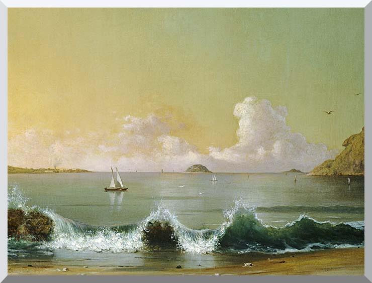 Martin Johnson Heade Rio de Janeiro Bay (right detail) stretched canvas art print
