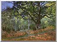 Claude Monet The Bodmer Oak Forest Of Fontainebleau stretched canvas art