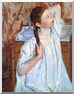 Mary Cassatt Girl Arranging Her Hair stretched canvas art