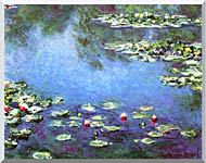 Claude Monet Water Lilies 1906 Detail stretched canvas art