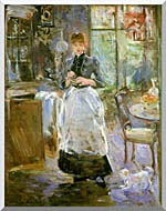 Berthe Morisot In The Dining Room stretched canvas art