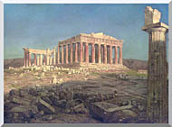 Frederic Edwin Church The Parthenon Detail stretched canvas art