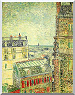 Vincent Van Gogh Paris Seen From Vincents Room In The Rue Lepic stretched canvas art