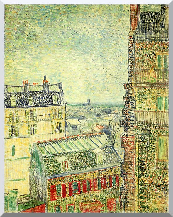 Vincent van Gogh Paris Seen from Vincent's Room in the Rue Lepic stretched canvas art print
