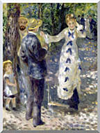 Pierre Auguste Renoir The Swing stretched canvas art