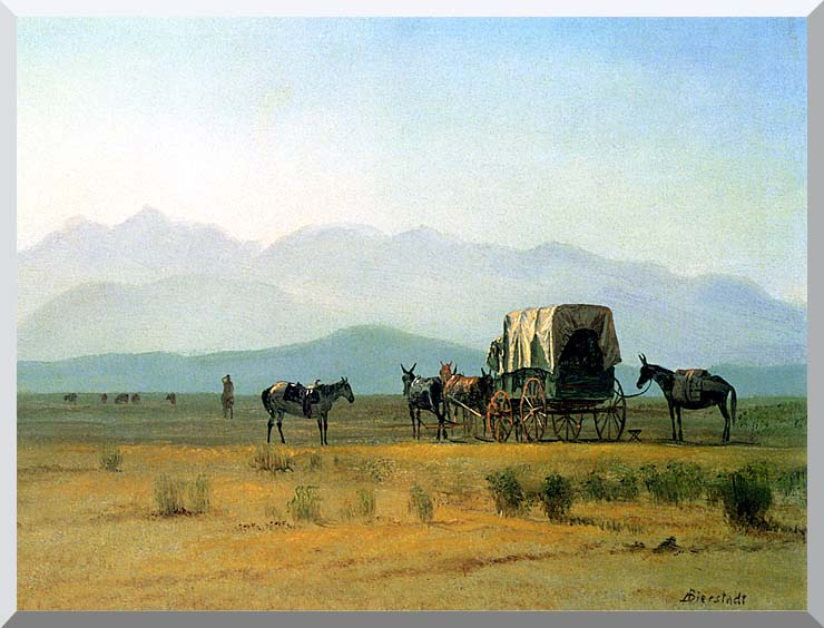 Albert Bierstadt Surveyor's Wagon in the Rockies stretched canvas art print