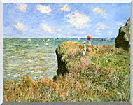 Claude Monet Walk On The Cliff At Pourville stretched canvas art