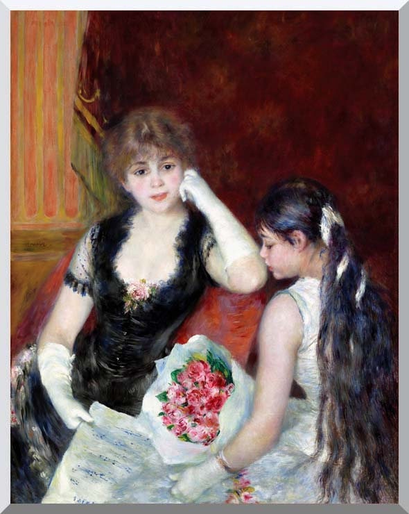 Pierre Auguste Renoir At the Concert stretched canvas art print
