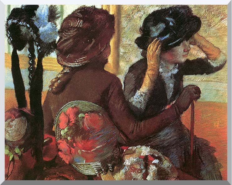 Edgar Degas At the Milliner's stretched canvas art print