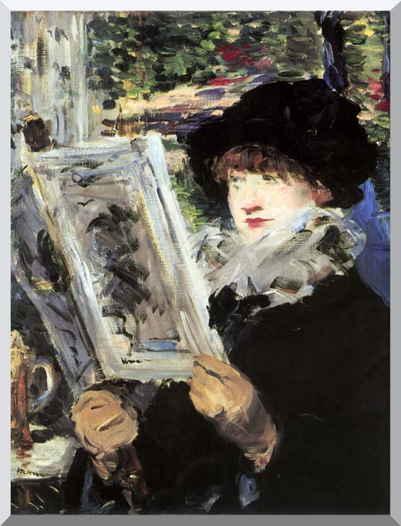Edouard Manet The Reader stretched canvas art print