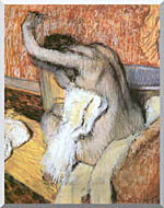 Edgar Degas After The Bath Woman Drying Herself stretched canvas art