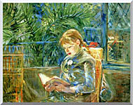Berthe Morisot Little Girl Reading stretched canvas art