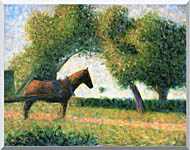 Georges Seurat Horse stretched canvas art